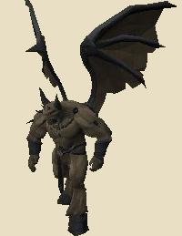 Fine demon statue
