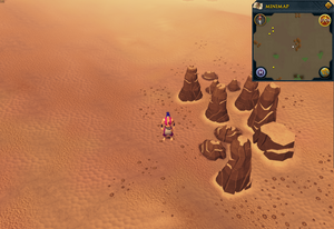 Scan clue Kharidian Desert west of Uzer Mastaba