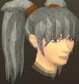 Female hair ponytails with fringe
