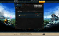 Clan forum tab