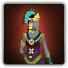 Feathered serpent outfit icon (female)