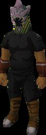 Wildstalker helmet (tier 4) equipped