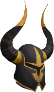 Elite black full helm chathead