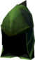 Green dragonhide coif detail