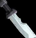 Steel ceremonial sword II detail