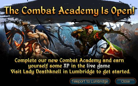 Combat Academy Ad