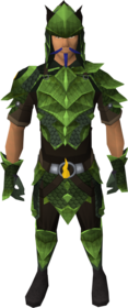 Guthix dragonhide blessed set equipped (male)