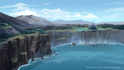 Rwby cliffside by hakuku-d6gy2t3