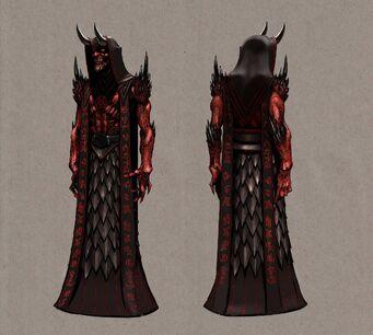 Dark Inciter Concept Art - front and back