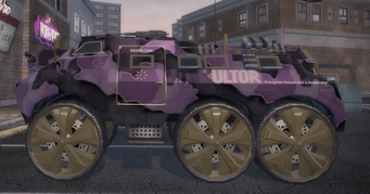 Bear modded with purple camo decal in Saints Row 2