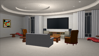 Price Mansion - living room