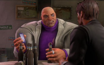 Oleg with Josh Birk in the Broken Shillelagh in Saints Row IV