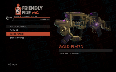 Weapon - Special - Abduction Gun - Abduct-O-Matic - Gold-Plated