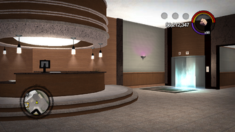 Saints Row Mega Condo - interior ground floor elevator
