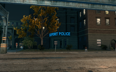 Steelport Police building in Sunset Park in Saints Row The Third