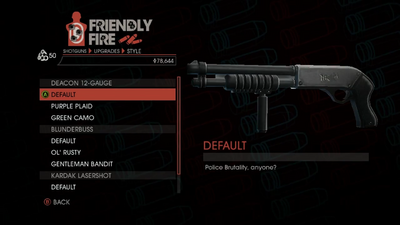 Weapon - Shotguns - Pump-Action Shotgun - Deacon 12-Gauge - Default