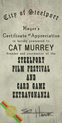 Credits - Mayor Certificate - Cat Murrey