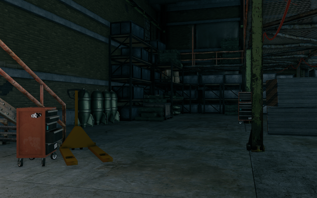 File:Guard Armory interior toolchest with XXXY logo besides stairs in Saints Row The Third.png