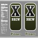 X brew beer logo