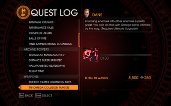 Gat out of Hell Challenge - Tri-Omega Collision Targets
