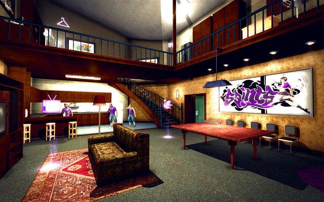 File:University Loft - Classy - downstairs towards kitchen.jpg