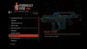 Weapon - Rifles - Burst Rifle - Impulse Rifle - Blue Plaid