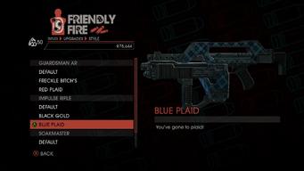 Weapon - Rifles - Burst Rifle - Impulse Rifle - Blue Plaid