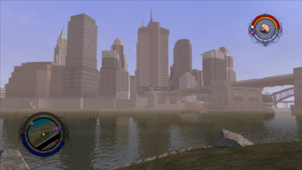 Downtown skyline in Saints Row