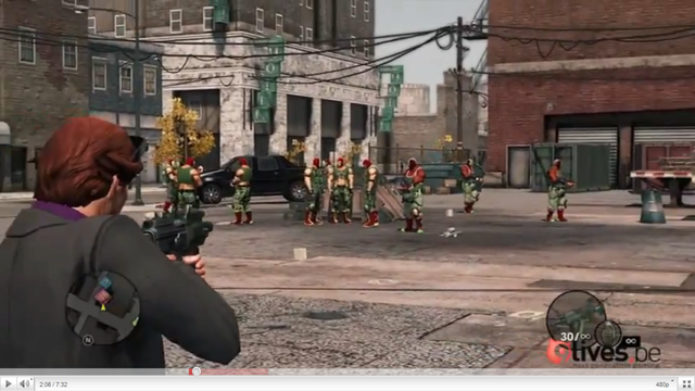 File:Luchadores - standing in parking lot in gameplay preview.png