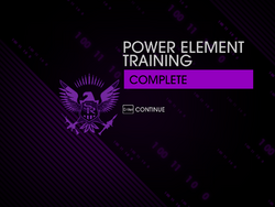 Power Element Training Complete