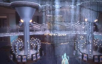 Poseidon's Palace interior - waterfall