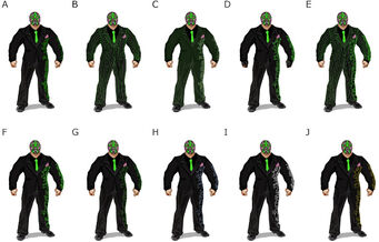 Killbane concept art - 10 alternate outfits