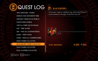Gat out of Hell Challenge - Blackbeard Tomes Collected