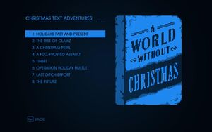 Christmas Text Adventures Cover and Contents