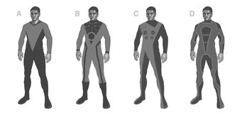 The Ship - Space Suits Concept Art - 4 versions