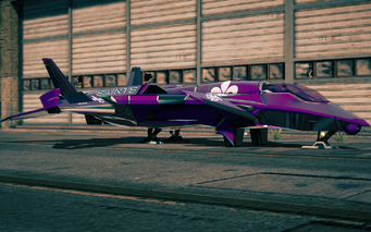 Saints VTOL - front left parked in Saints Row IV