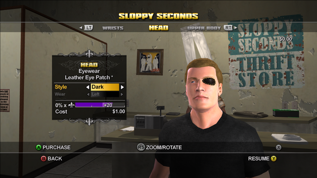 File:Customization Items in Saints Row - Sloppy Seconds - Head - Eyewear - Leather Eye Patch.png
