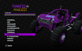Saints Raider in the Garage in Saints Row The Third