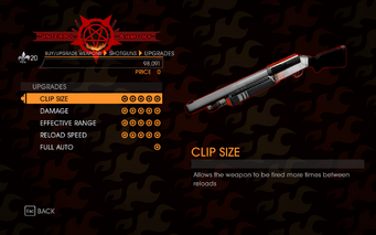 Gat out of Hell - Semi-Auto Shotgun - Upgrades