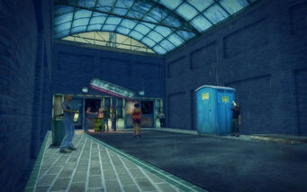 Prawn Court in Saints Row 2 - Transportation Center bums