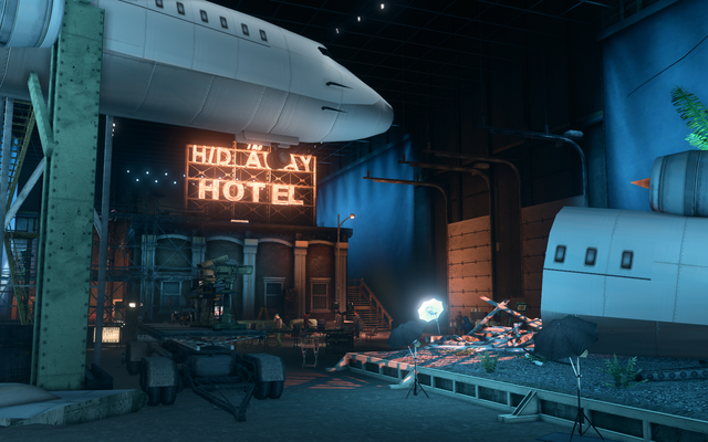 File:Hangar 18.5 - plane crash set from behind.png