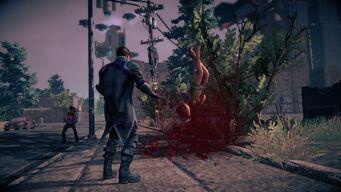 Combat in Saints Row IV - Super powerbomb - end