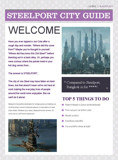 Saints Row website - About - Steelport - Steelport City Guide