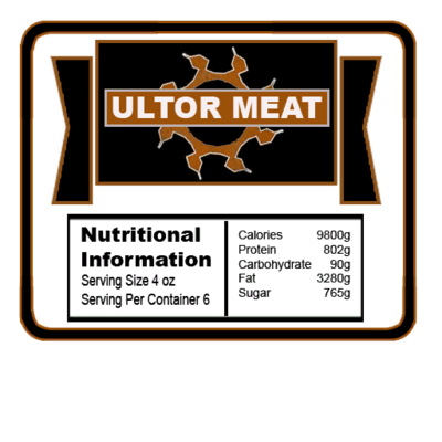 Ultor Meat label