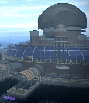 University Dock - aerial view
