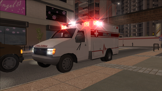 File:Ambulance with sirens in Saints Row.png