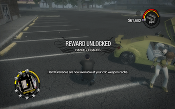 Hand Grenades unlocked in Saints Row 2