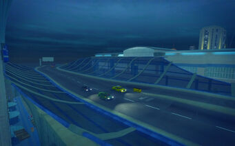 Wardill Airport in Saints Row 2 - overpass