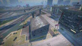 Donnie's in Saints Row 2 from above and west
