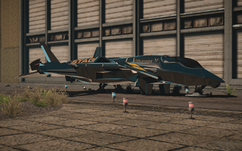 F-69 VTOL - cyrus variant - front left parked in Saints Row IV